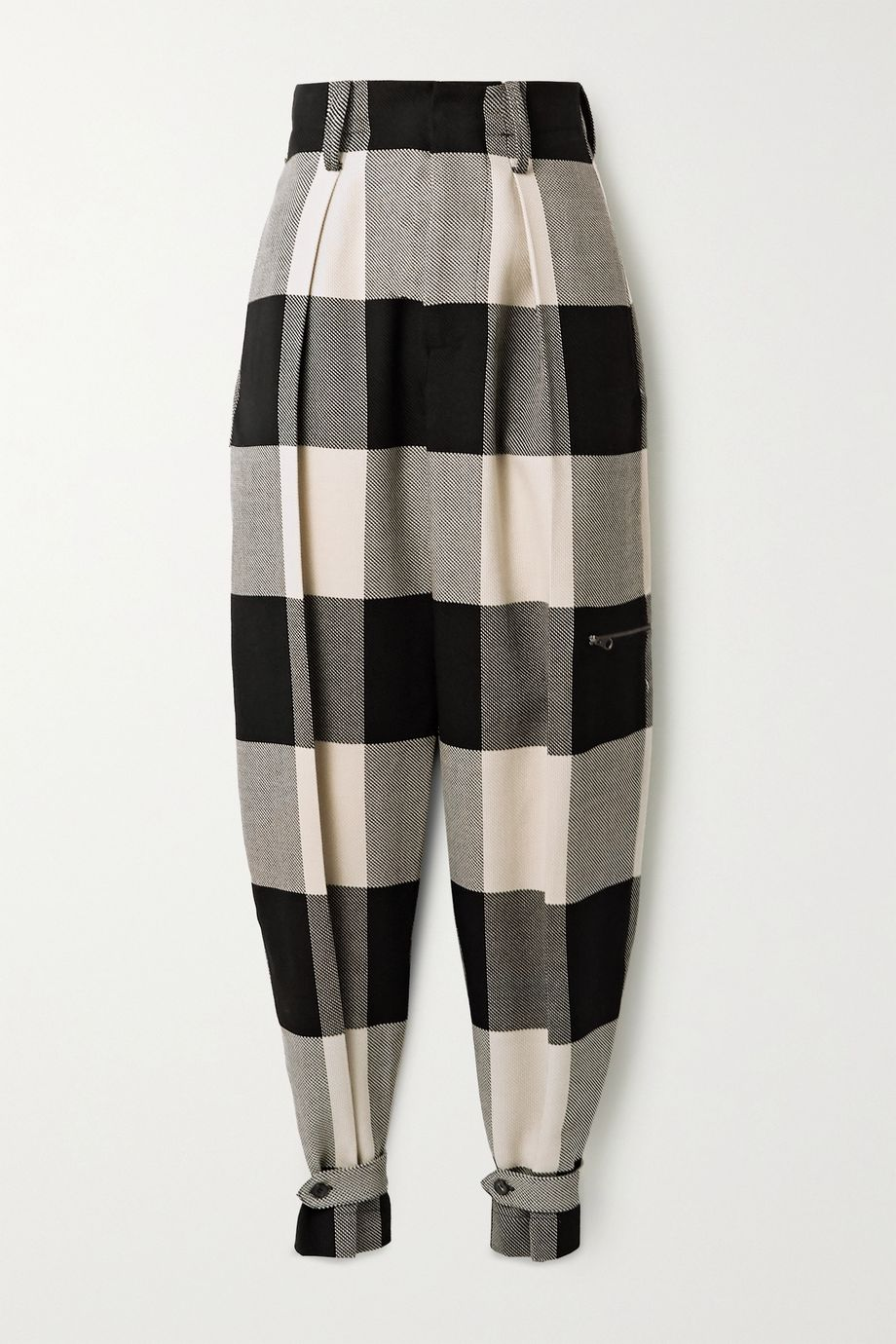 TRE by Natalie Ratabesi Checked wool tapered pants