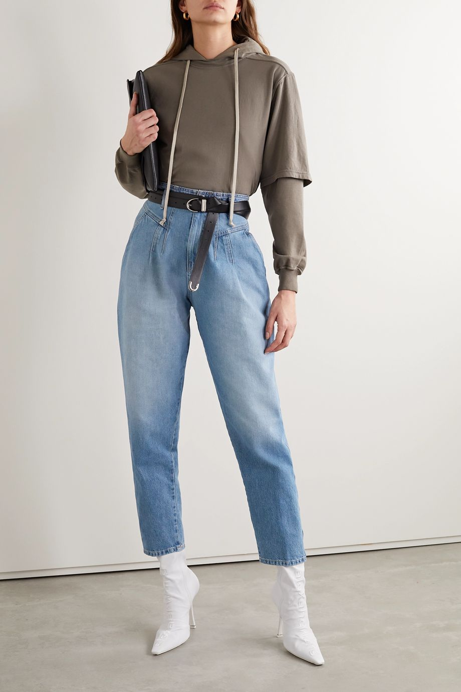 TRE by Natalie Ratabesi High-rise tapered jeans