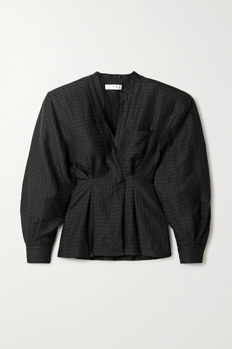 TRE by Natalie Ratabesi Checked twill blouse