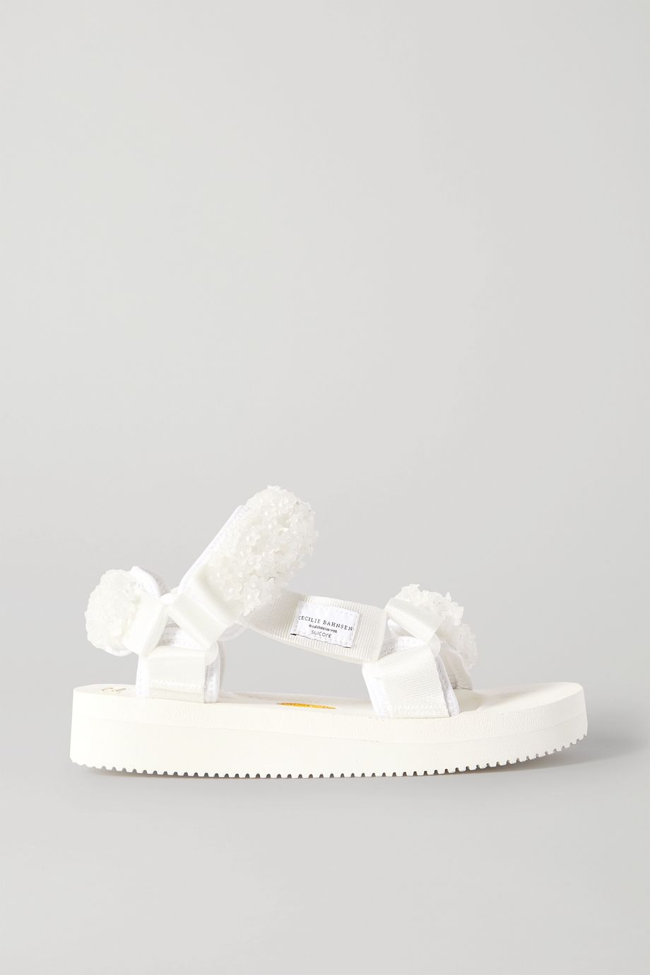 Cecilie Bahnsen + Suicoke Maria bead-embellished canvas sandals