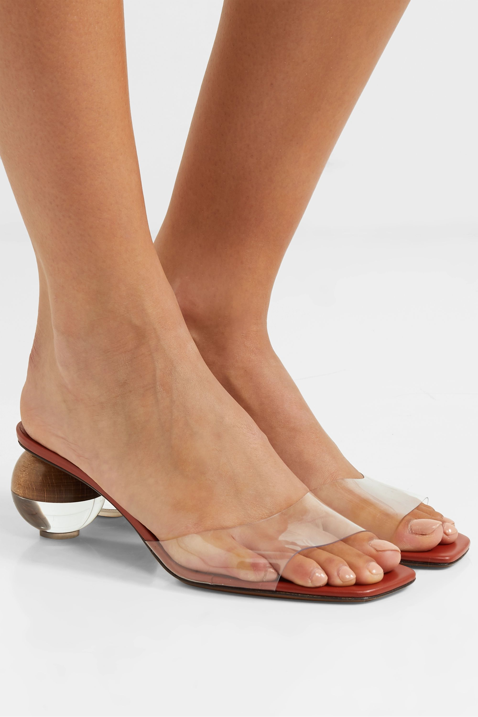 Neous Opus PVC and leather mules