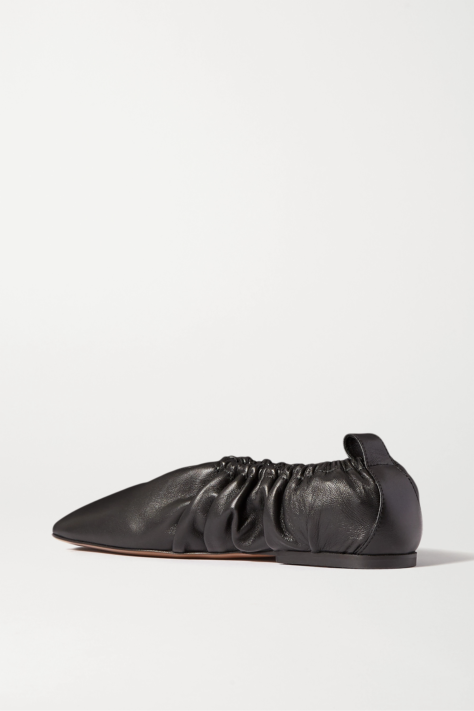 Neous Phinia gathered leather ballet flats