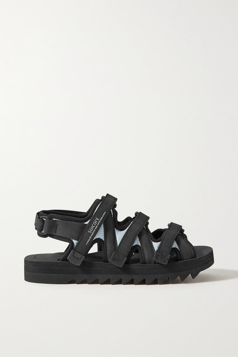 Cecilie Bahnsen + Suicoke Edda silk-cloqué, neoprene and grosgrain sandals