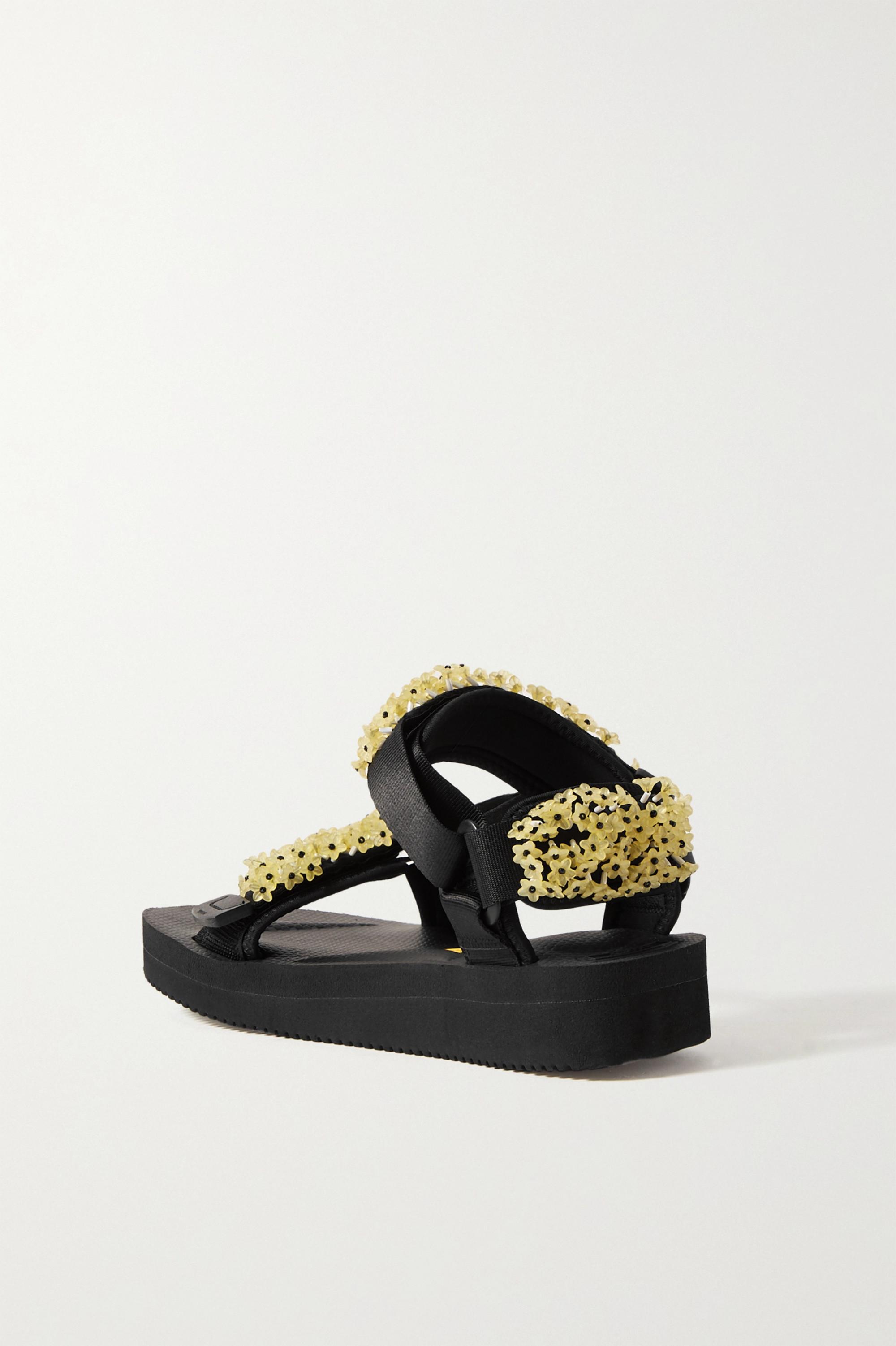 Cecilie Bahnsen + Suicoke Maria embellished canvas sandals
