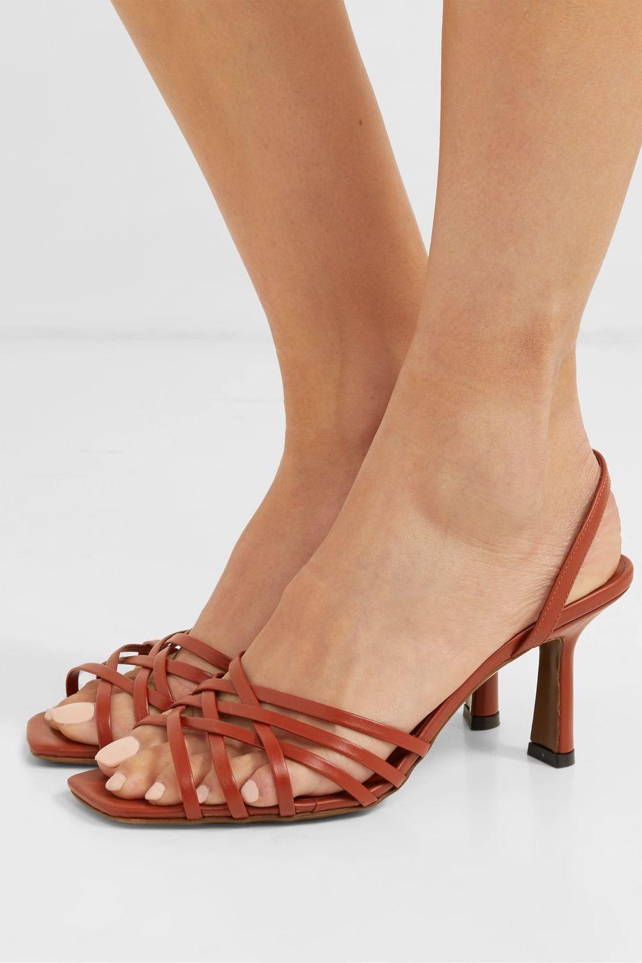 Neous Scuticaria leather slingback sandals
