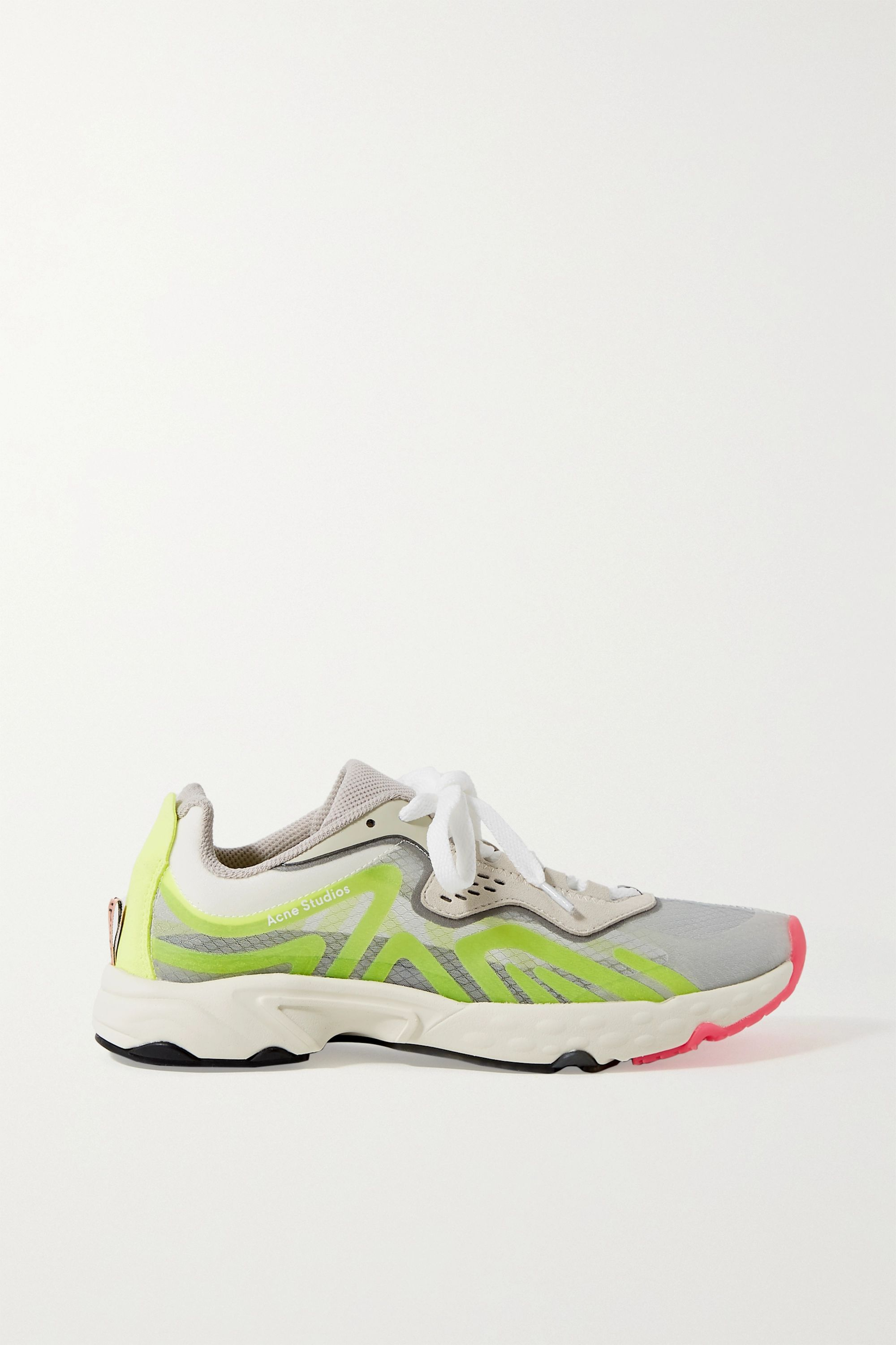 Acne Studios Ripstop, rubber and suede sneakers