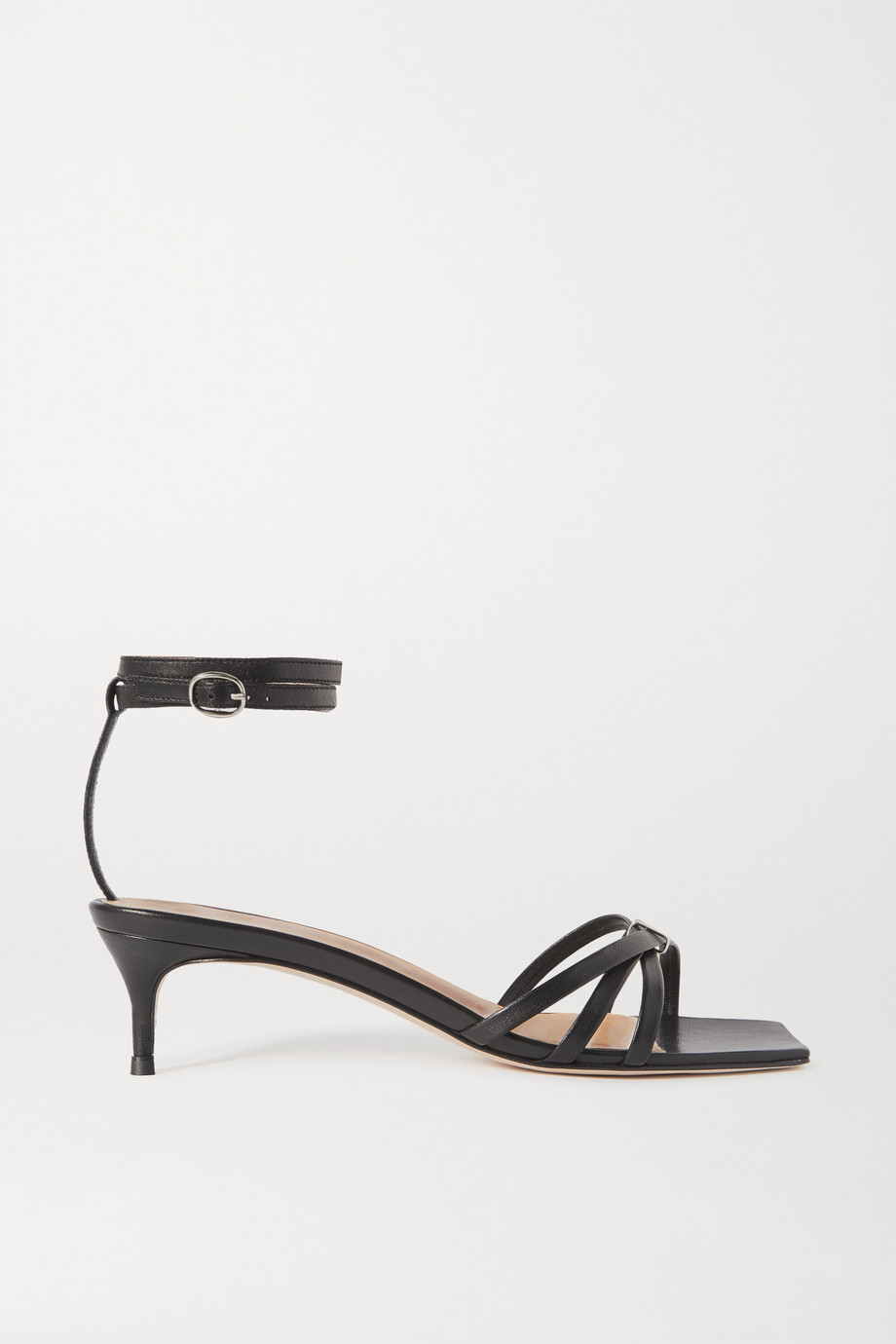 BY FAR Kaia leather sandals