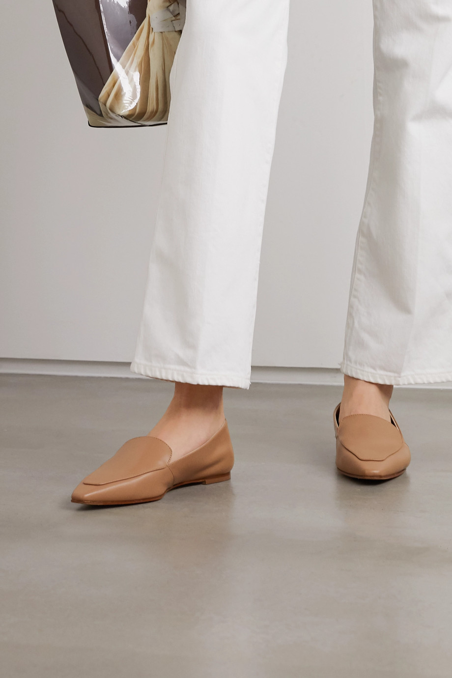 aeyde Aurora leather loafers