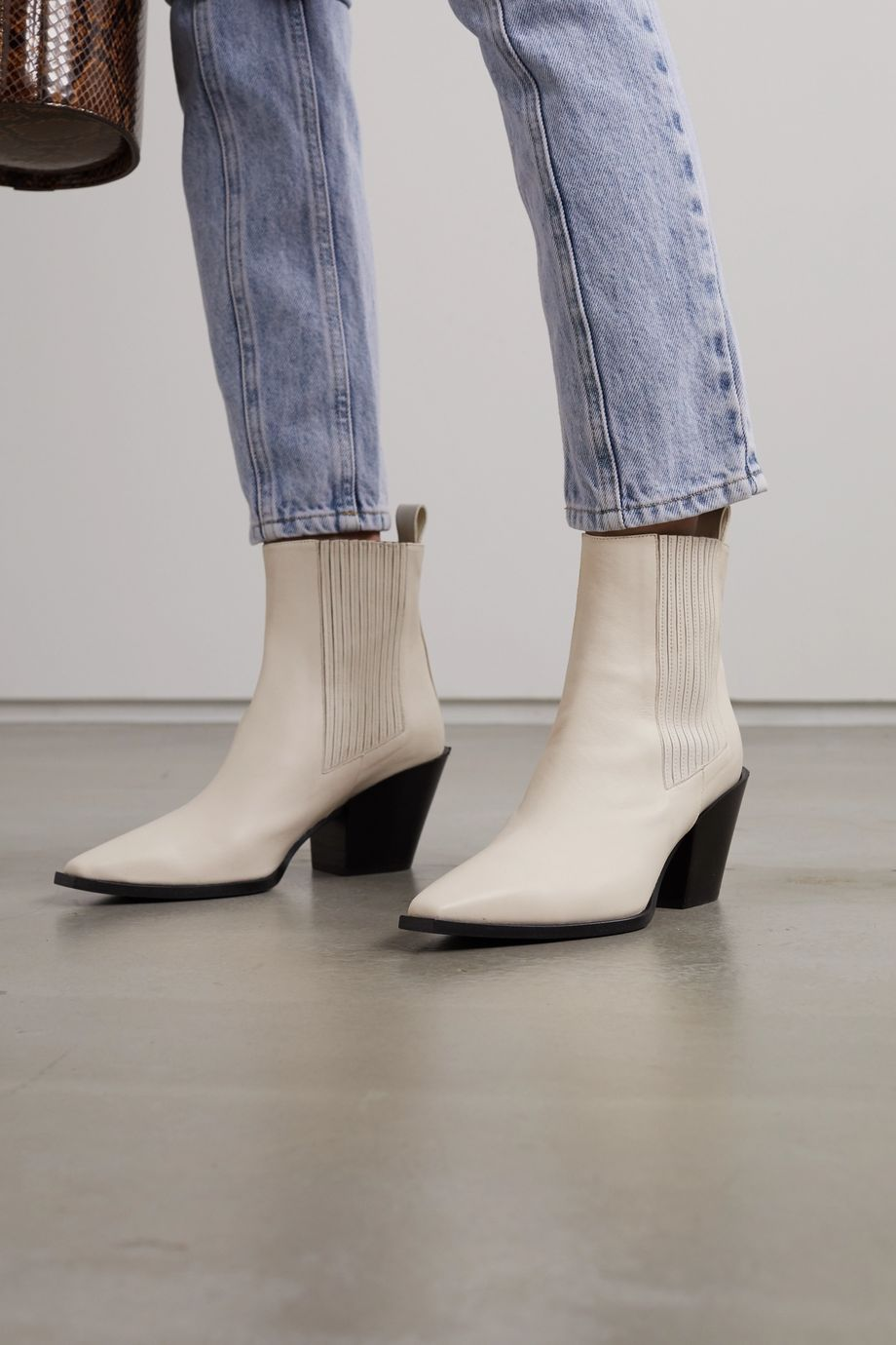 aeydē Kate leather ankle boots
