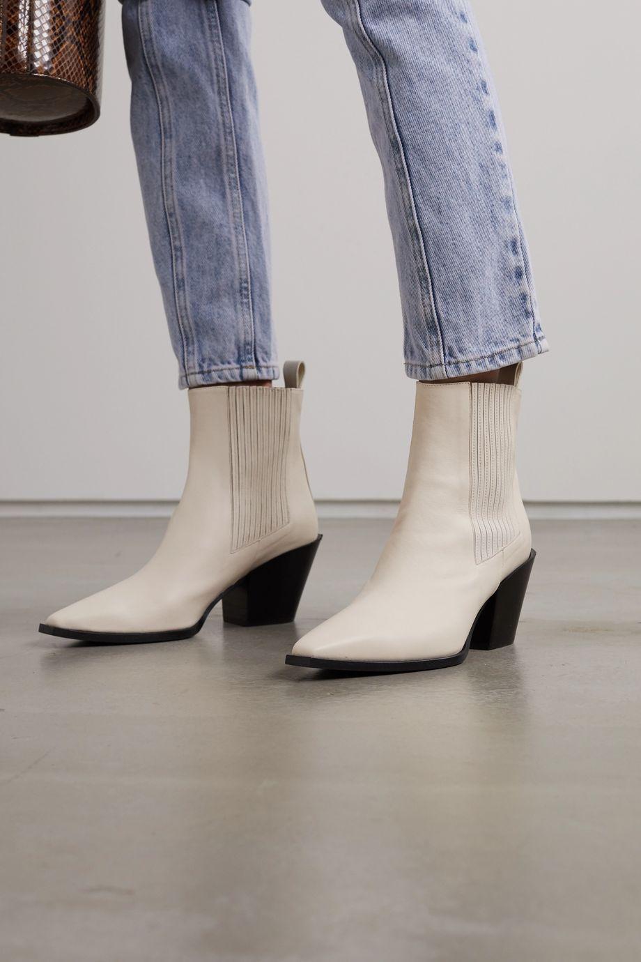 aeydē Kate 皮革踝靴