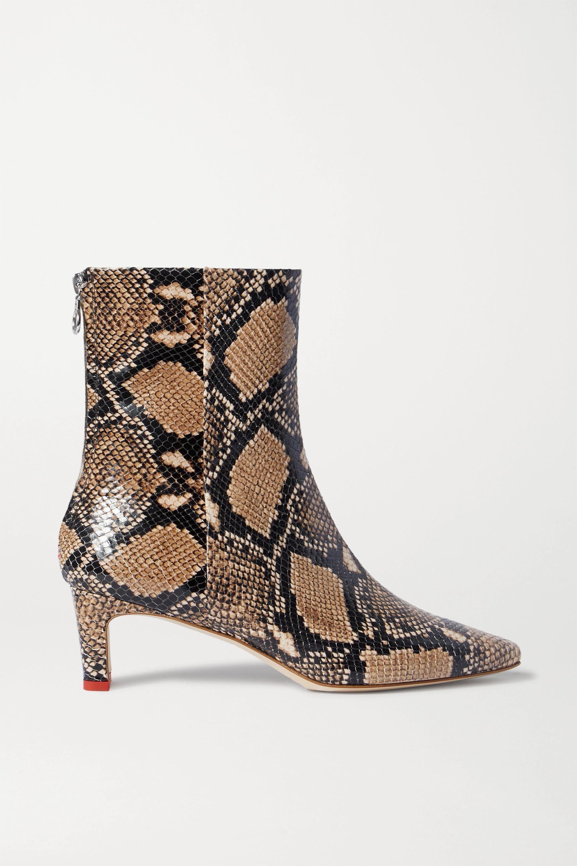 bottine cuir effet serpent