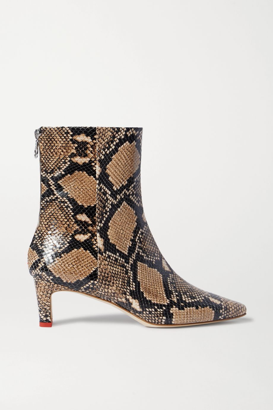 aeydē Ivy snake-effect leather ankle boots