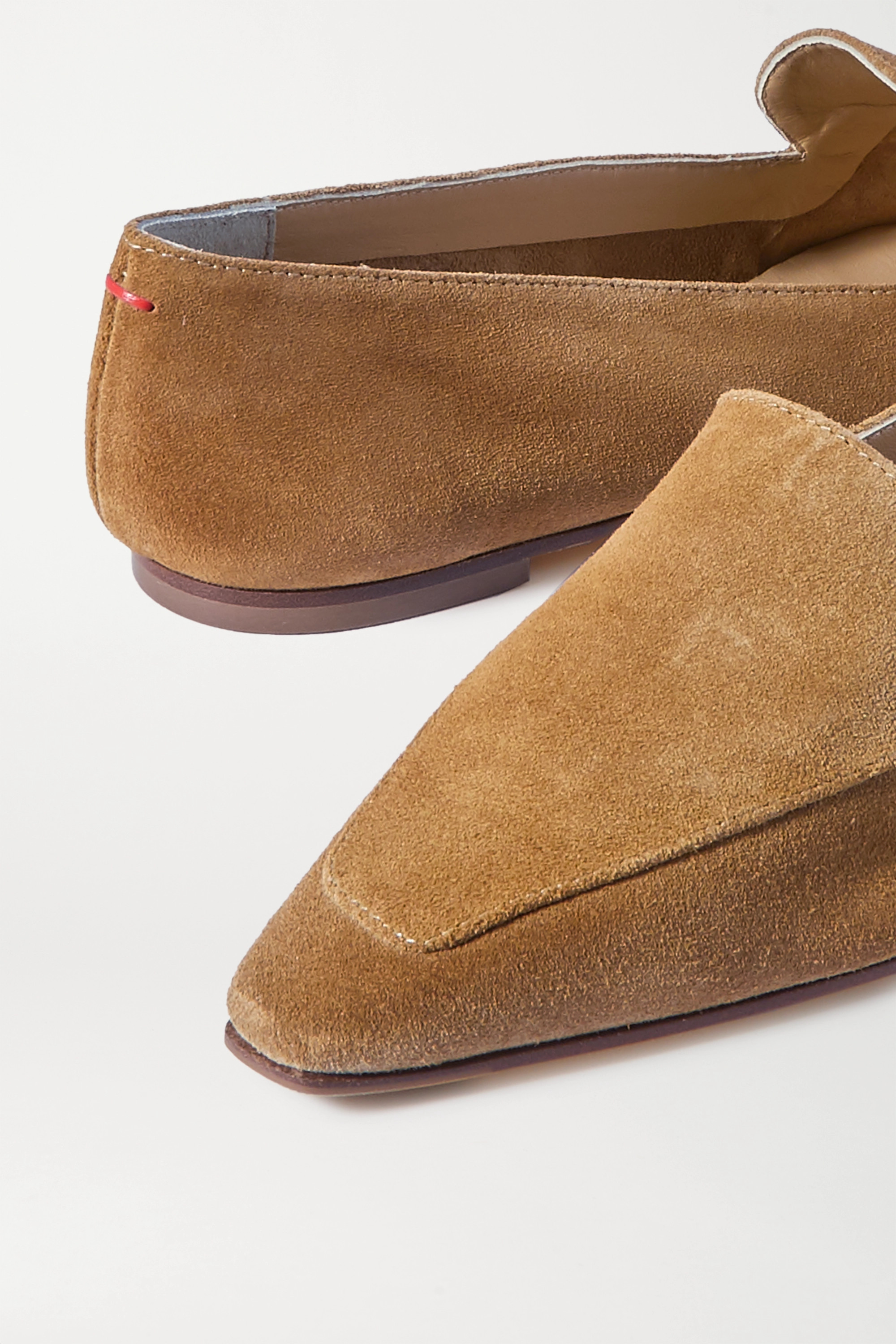 aeyde Aurora suede loafers
