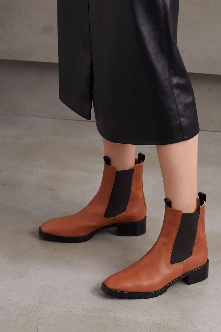 aeydē Karlo leather Chelsea boots
