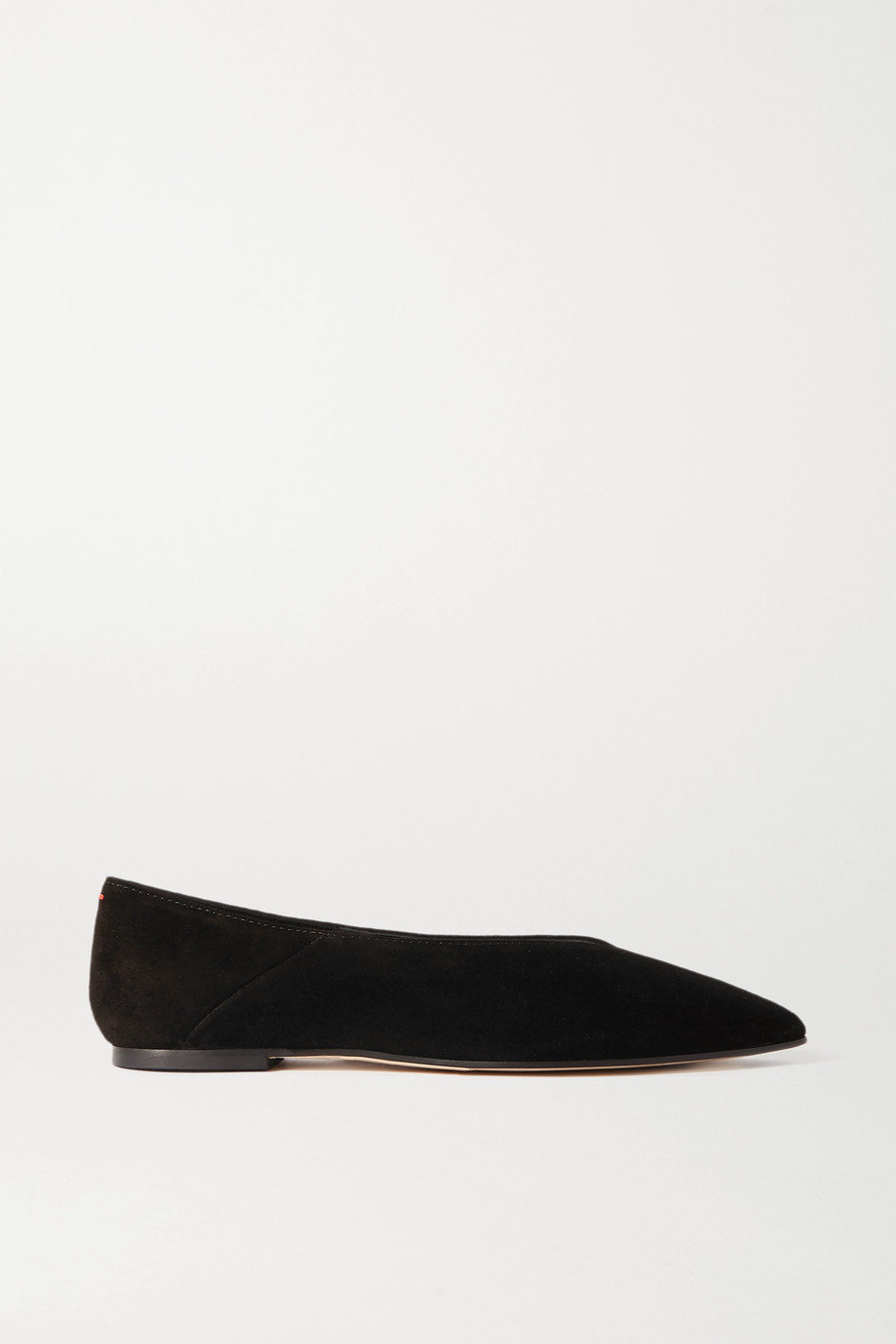 aeyde Moa suede point-toe flats