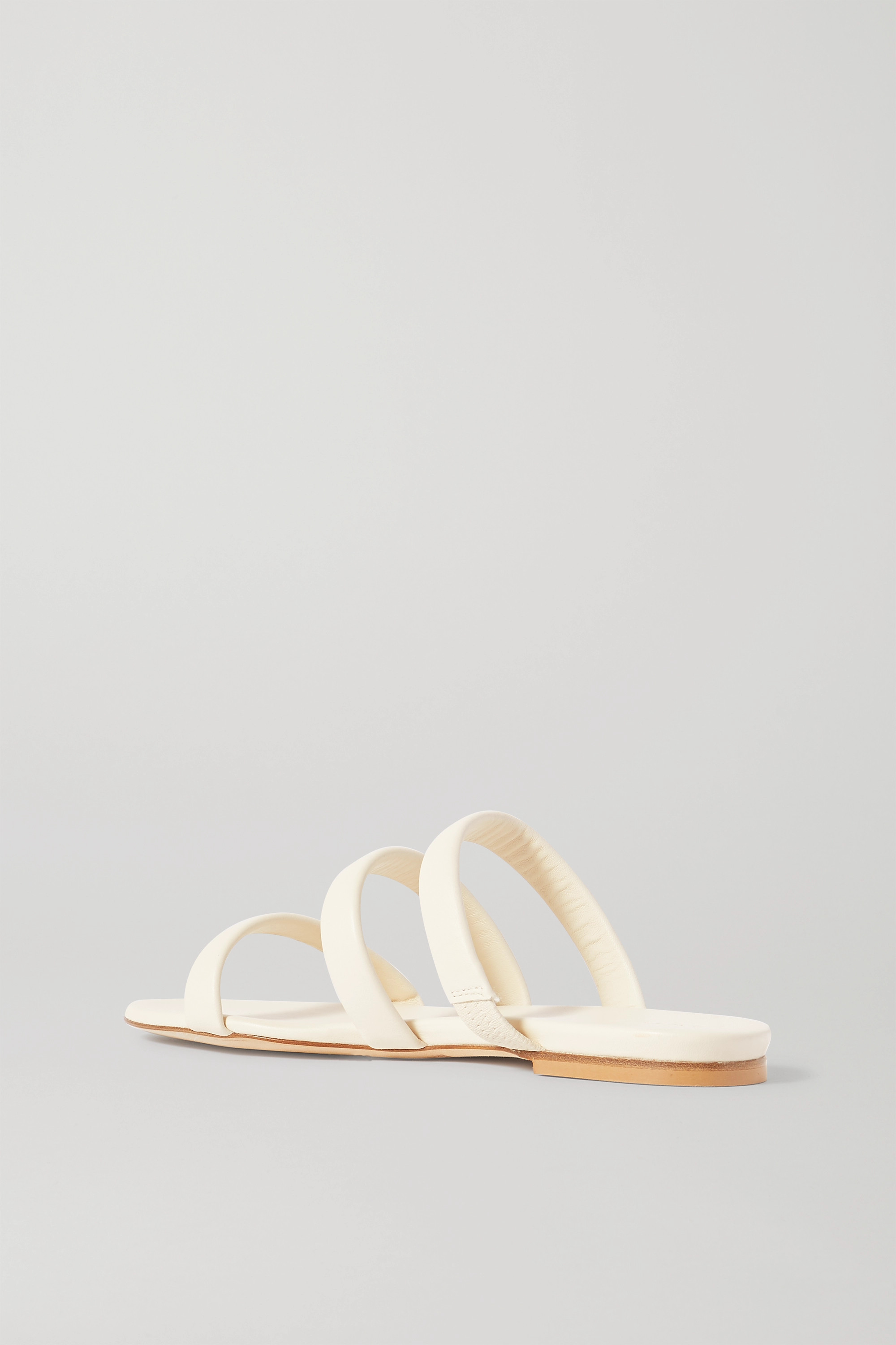 aeyde Chrissy leather slides