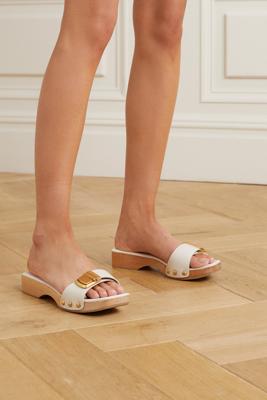 Jacquemus Buckle-detailed leather mules