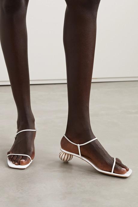 Manosque leather sandals