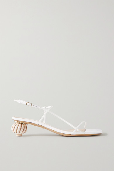 Jacquemus White 'les Sandales Manosque' Heeled Sandals