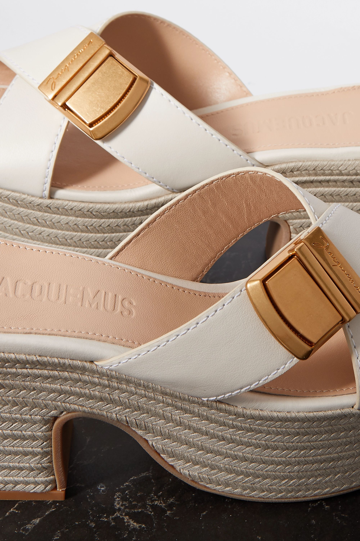 Jacquemus 搭扣皮革防水台麻底鞋