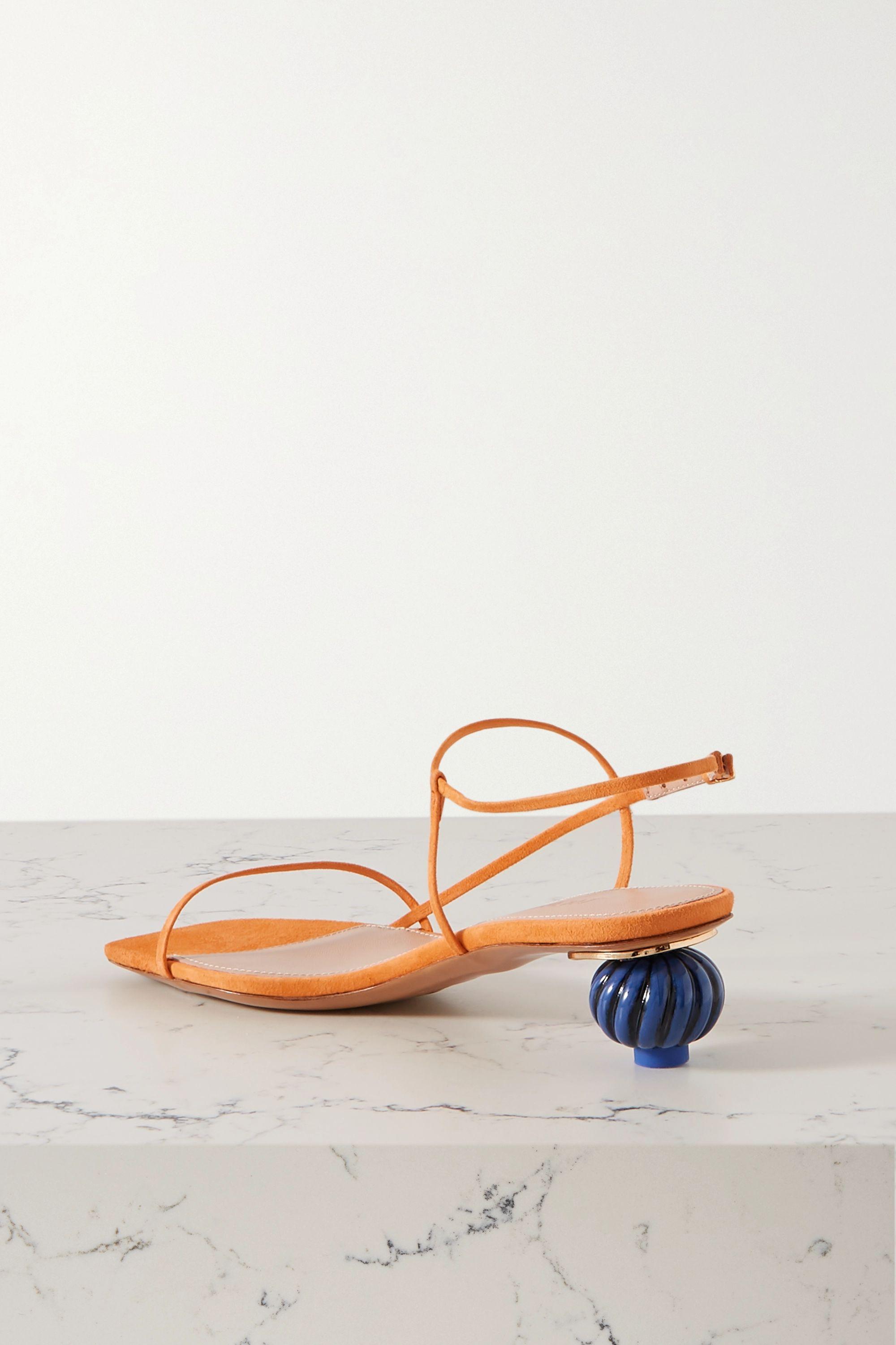 Jacquemus Manosque two-tone suede sandals