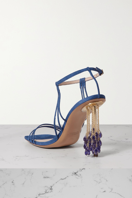 Jacquemus 带缀饰绒面革凉鞋