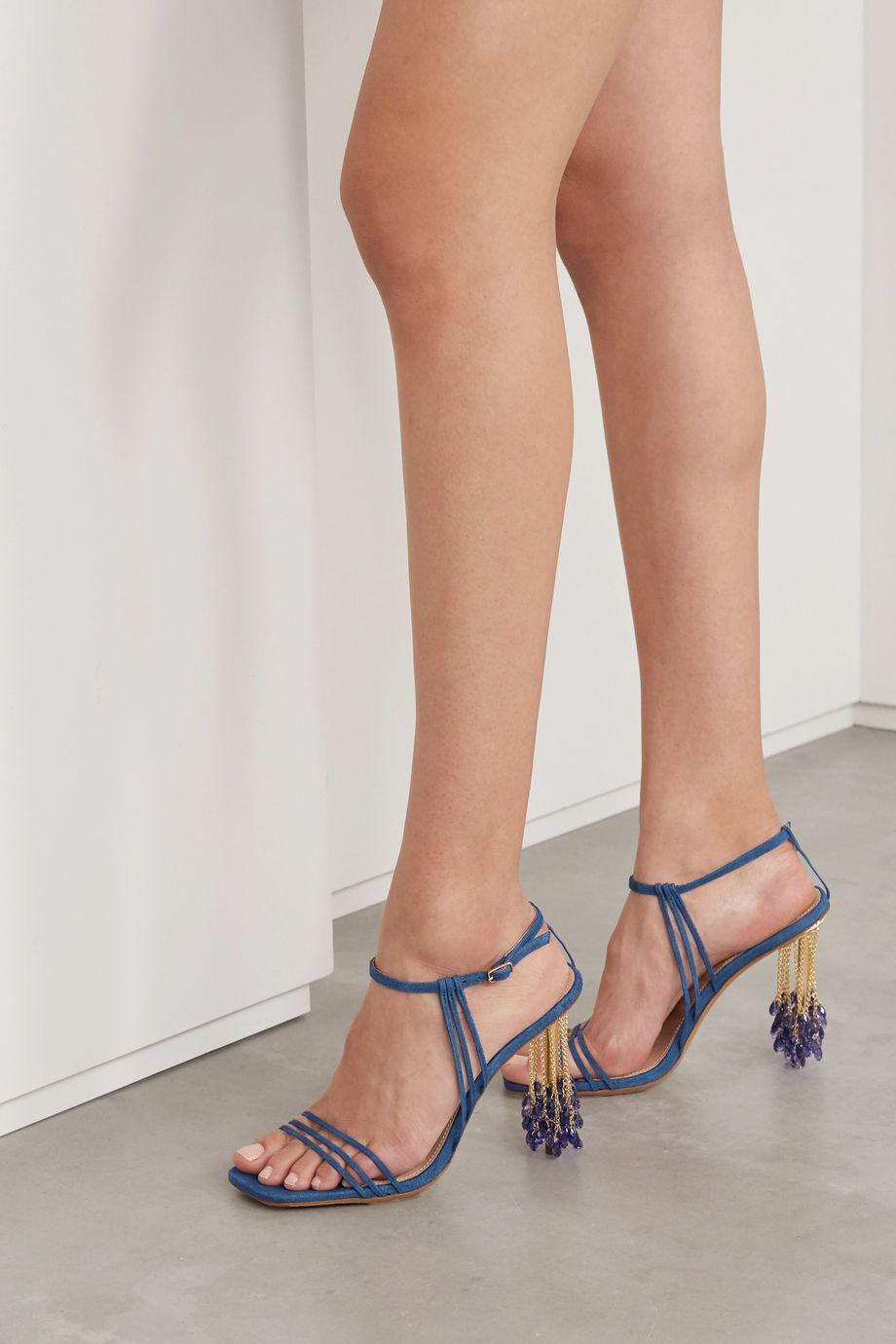 Jacquemus Embellished suede sandals