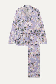 + Maleficent Lila floral-print silk-satin pajama set