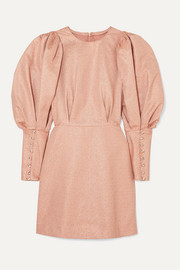 Anna Mason Sylvie metallic crepe mini dress