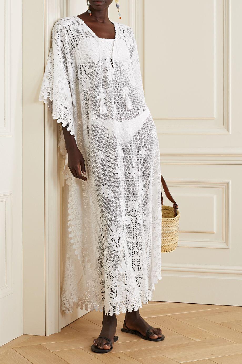 Melissa Odabash Nicki cotton-blend lace kaftan