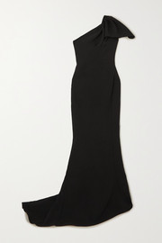 Maticevski Accompany one-shoulder draped cady gown