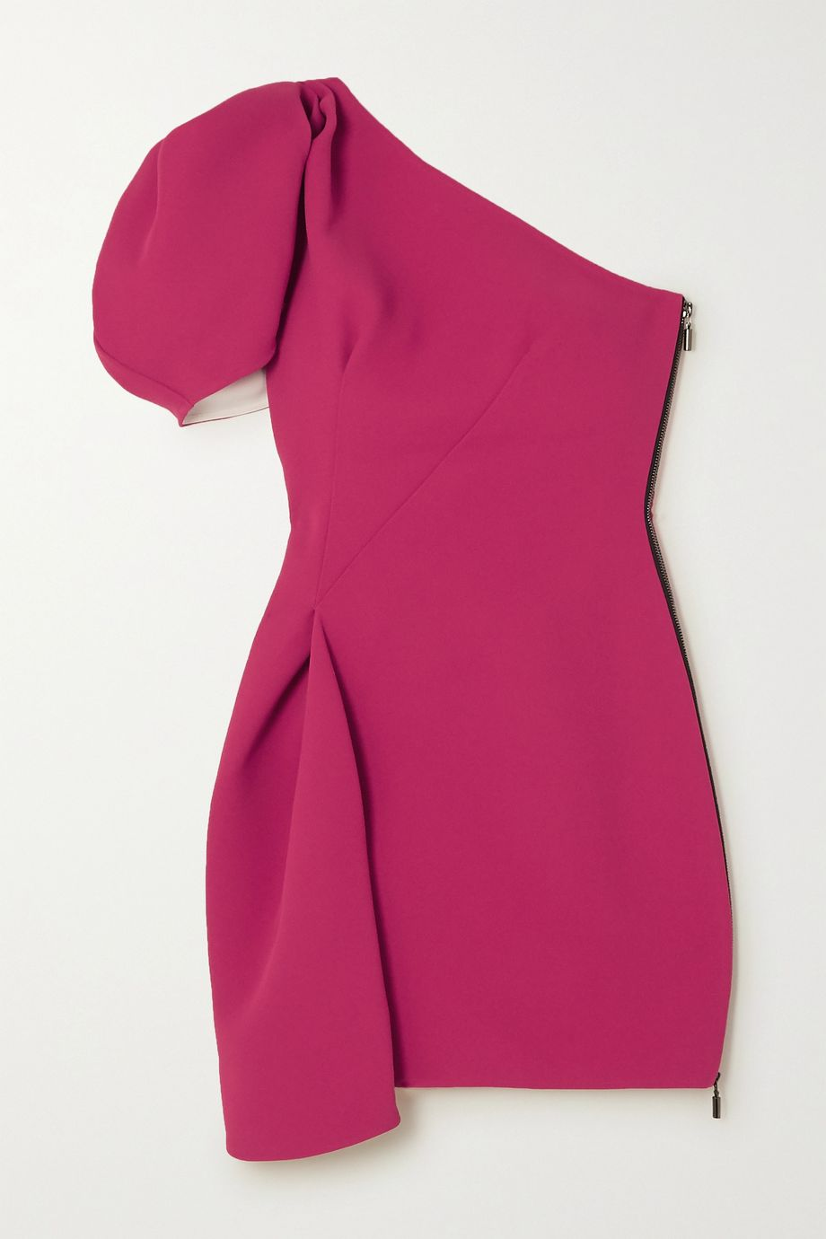 Maticevski Mimicry one-shoulder pleated cady mini dress