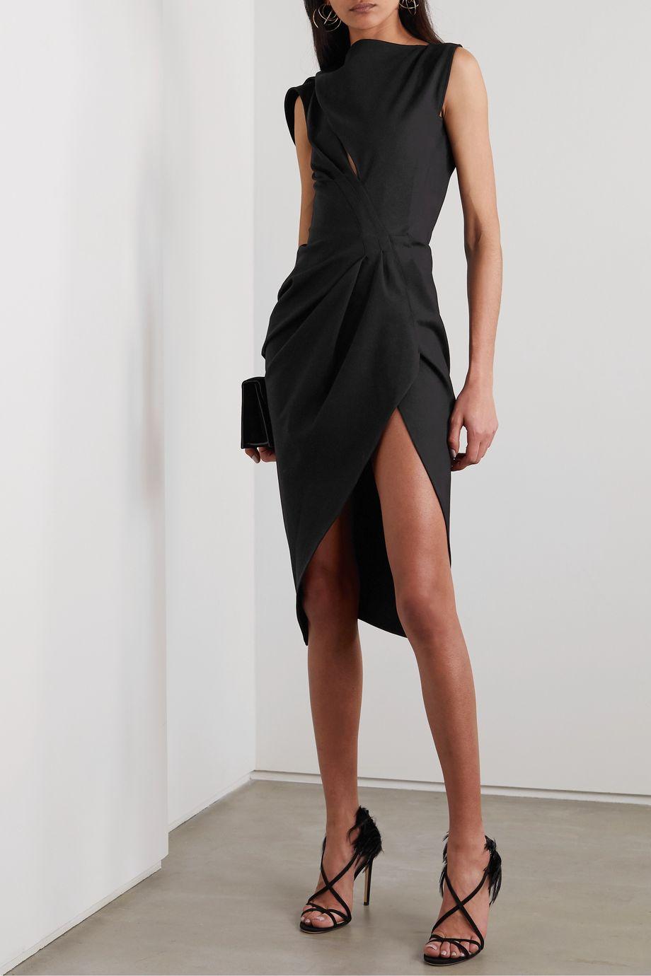 Maticevski Connector cutout draped cady dress