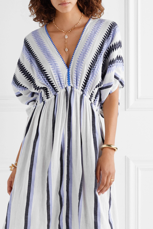 LemLem Tigist cotton-gauze midi dress