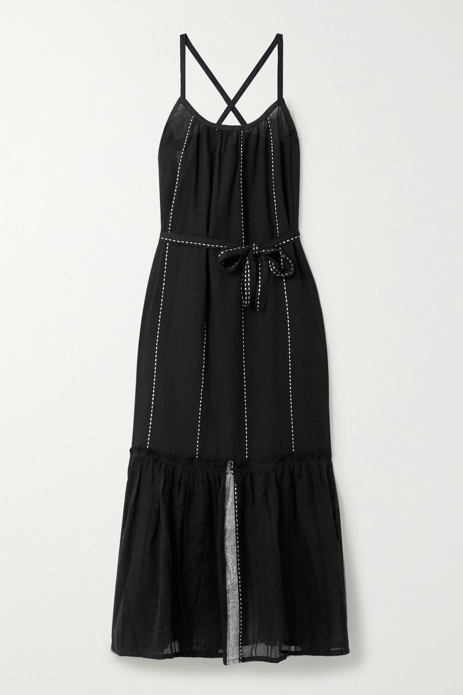 LemLem Tikuri cotton-gauze midi dress