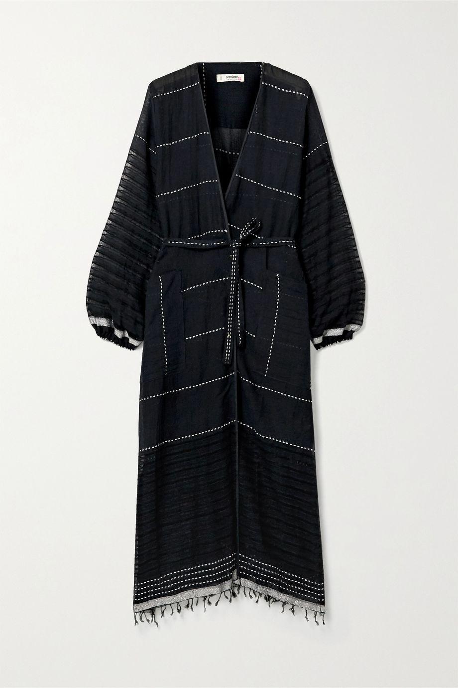 LemLem Tikuri embroidered cotton-voile robe