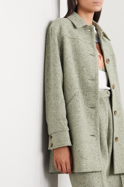 ALEXACHUNG 混色羊毛混纺外套