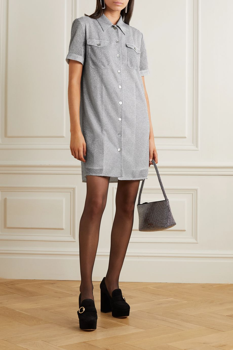 ALEXACHUNG Lurex mini dress