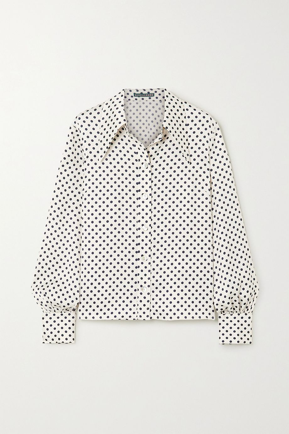 ALEXACHUNG Polka-dot satin shirt