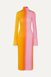 Ellery Bach dégradé stretch-satin midi dress