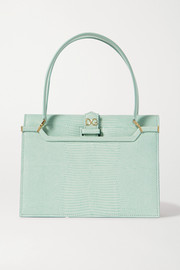 Dolce & Gabbana Ingrid lizard-effect leather tote
