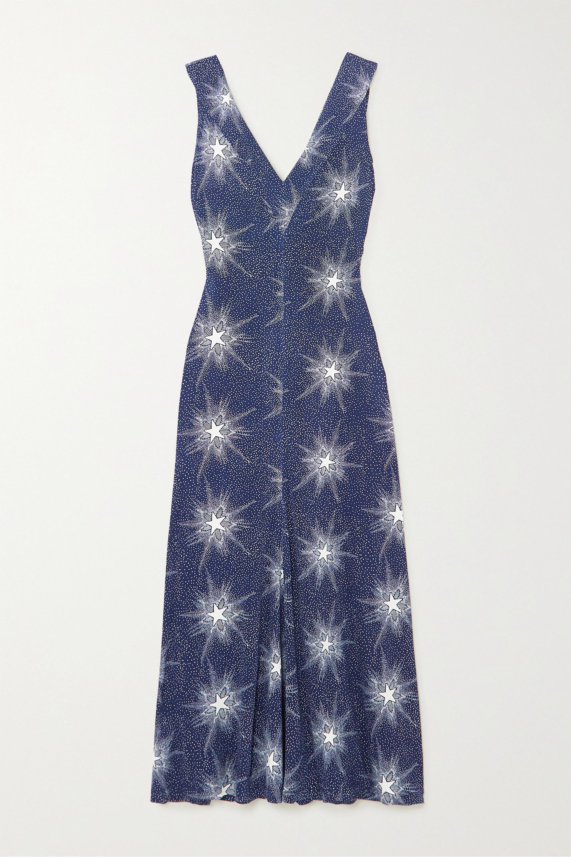 Paco Rabanne Printed stretch-jersey midi dress