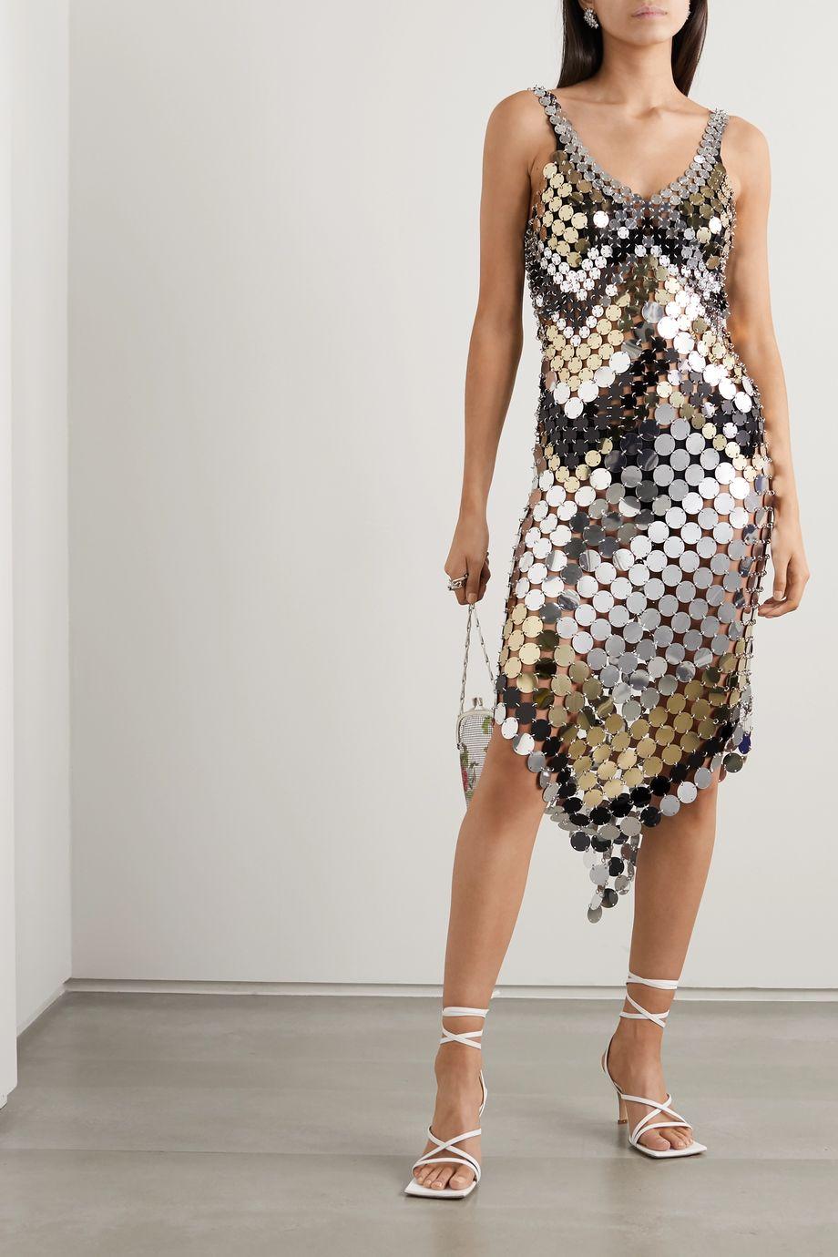 Paco Rabanne Kleid aus Metallic-Mesh
