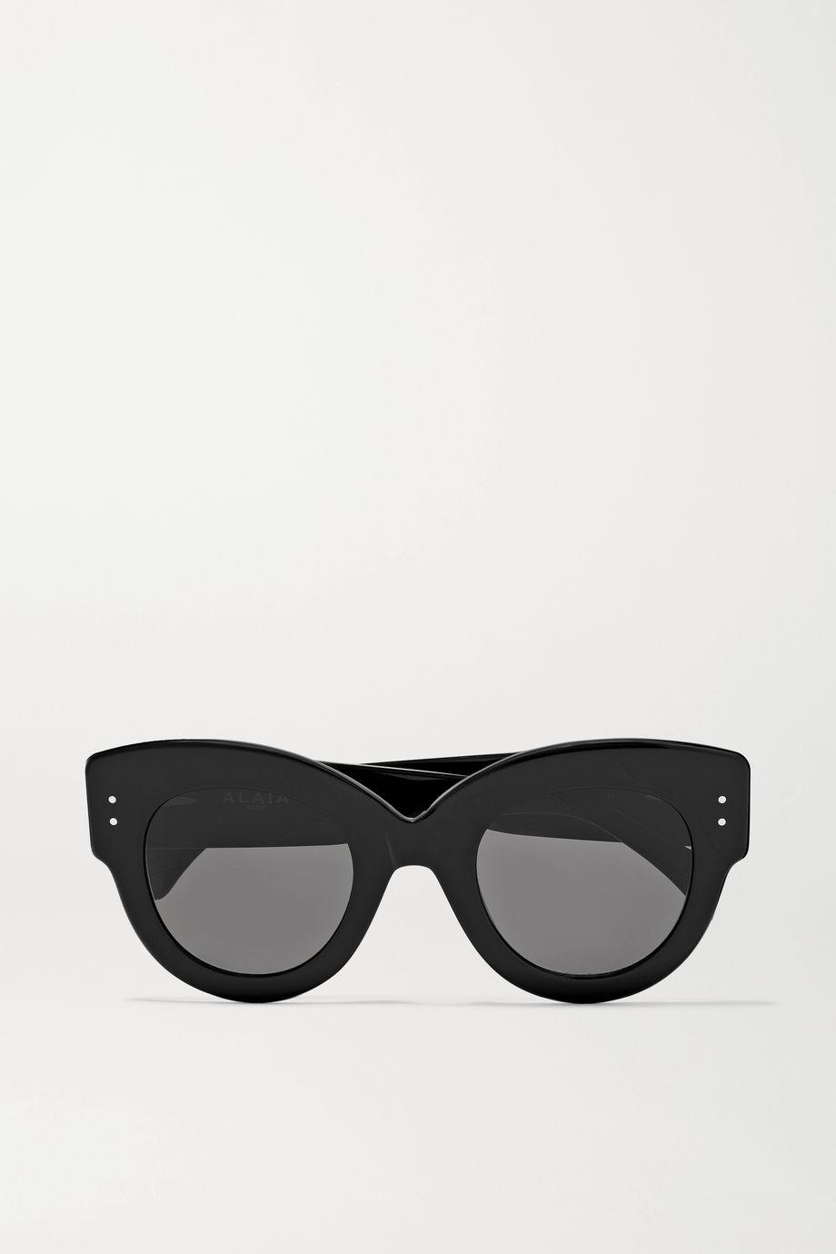 Alaïa Sonnenbrille mit rundem Rahmen aus Azetat mit Ösen