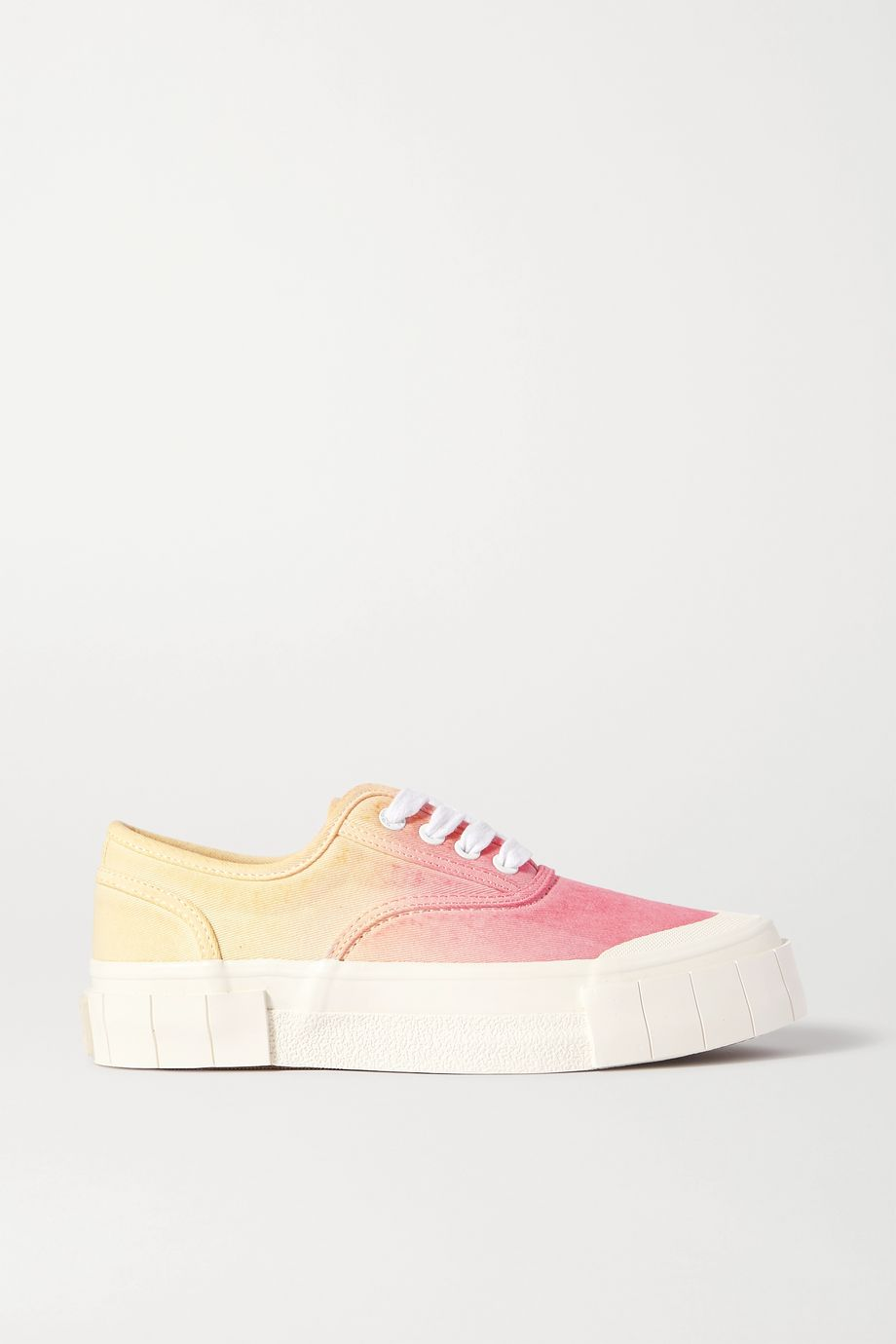 GOOD NEWS + NET SUSTAIN Ace ombré organic cotton-canvas sneakers
