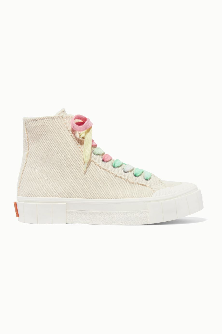 GOOD NEWS + NET SUSTAIN organic cotton-canvas high-top sneakers