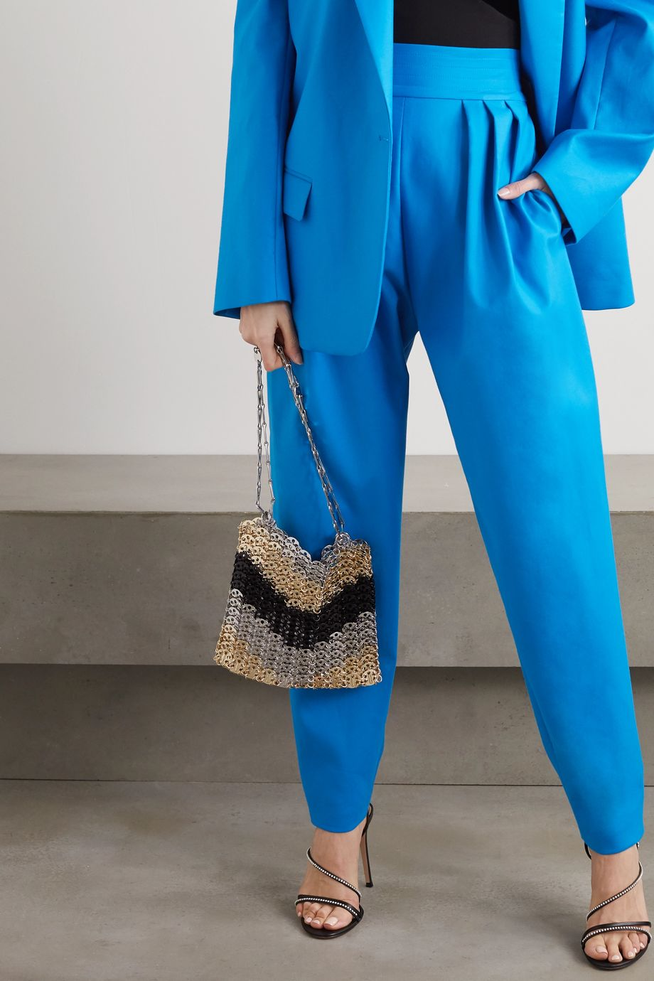 Paco Rabanne Iconic 1969 paillette-embellished chainmail shoulder bag