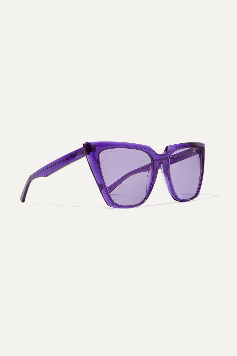 Balenciaga Oversized-Sonnenbrille mit Cat-Eye-Rahmen aus Azetat