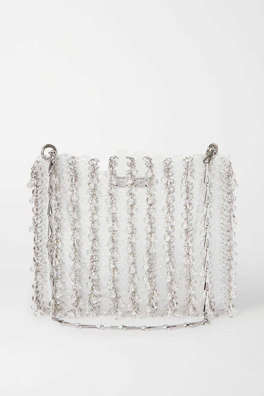 Paco Rabanne 1969 small silver-tone and Plexiglas chainmail shoulder bag