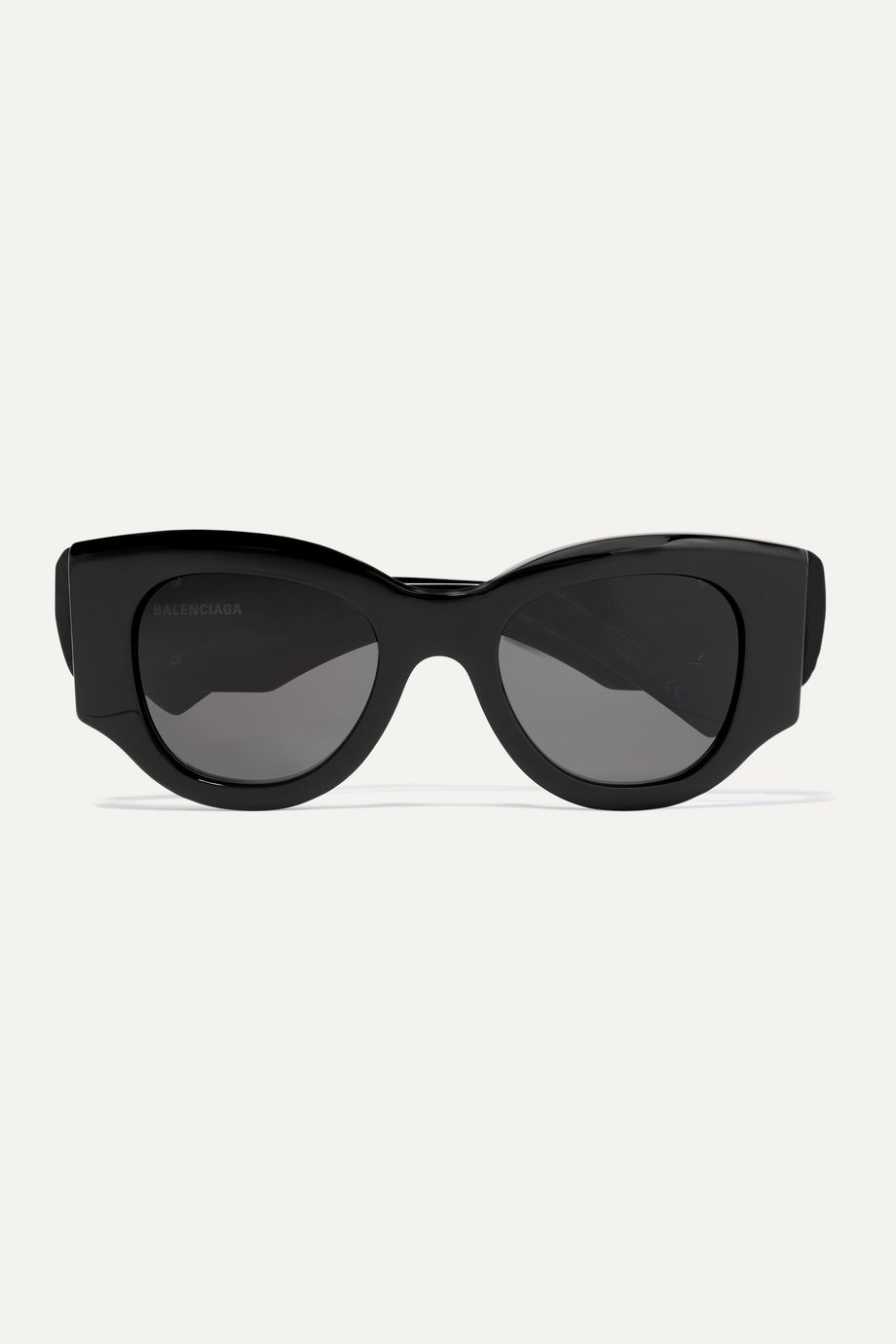 Balenciaga Paris oversized round-frame acetate sunglasses